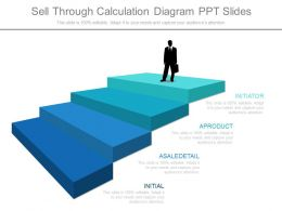 Ppts Sell Through Calculation Diagram Ppt Slides