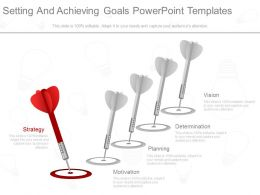 Ppts Setting And Achieving Goals Powerpoint Templates