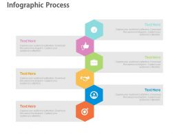 ppts Six Hexagons For Process Flow Indication Flat Powerpoint Design