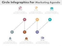 ppts Six Staged Circle Infographics For Marketing Agenda Flat Powerpoint Design