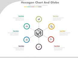 ppts Six Staged Hexagonal Chart And Globe Flat Powerpoint Design