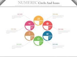 ppts Six Staged Numeric Circles And Icons For Business Data Flat Powerpoint Design
