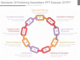 Ppts Standards Of Publishing Newsletters Ppt Example Of Ppt