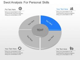 ppts Swot Analysis For Personal Skills Powerpoint Template