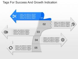 ppts Tags For Success And Growth Indication Powerpoint Template