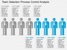 ppts Team Selection Process Control Analysis Flat Powerpoint Design