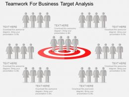 ppts Teamwork For Business Target Analysis Flat Powerpoint Design