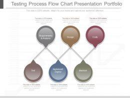 Ppts Testing Process Flow Chart Presentation Portfolio