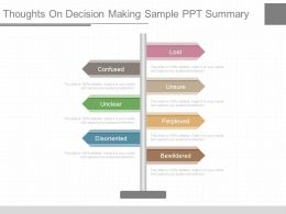 Ppts Thoughts On Decision Making Sample Ppt Summary