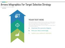 ppts Three Staged Arrow Infographics For Target Selection Strategy Flat Powerpoint Design