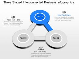 ppts Three Staged Interconnected Business Infographics Powerpoint Template