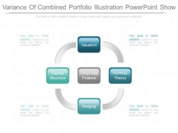 Ppts Variance Of Combined Portfolio Illustration Powerpoint Show