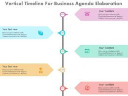 ppts Vertical Timeline For Business Agenda Elaboration Flat Powerpoint Design