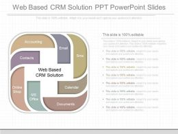 Ppts Web Based Crm Solution Ppt Powerpoint Slides