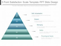 Pptx 5 Point Satisfaction Scale Template Ppt Slide Design