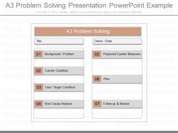Pptx A3 Problem Solving Presentation Powerpoint Example