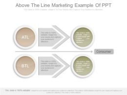 Pptx Above The Line Marketing Example Of Ppt