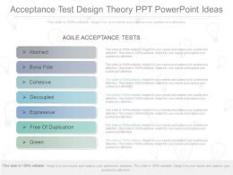Pptx Acceptance Test Design Theory Ppt Powerpoint Ideas