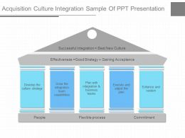 Pptx Acquisition Culture Integration Sample Of Ppt Presentation