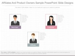 Pptx Affiliates And Product Owners Sample Powerpoint Slide Designs