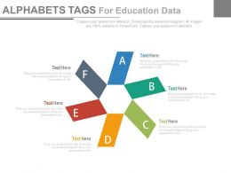 pptx Alphabet Tags For Education Data Flat Powerpoint Design