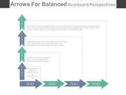 pptx Arrows For Balanced Scorecard Perspectives Flat Powerpoint Design