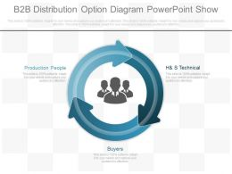 Pptx B2b Distribution Option Diagram Powerpoint Show