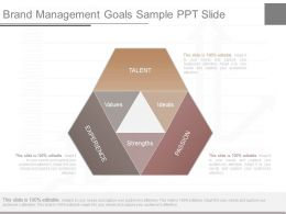 Pptx Brand Management Goals Sample Ppt Slide