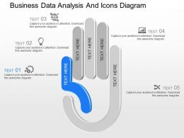pptx Business Data Analysis And Icons Diagram Powerpoint Template