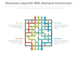 pptx_business_labyrinth_with_alphabet_and_arrows_flat_powerpoint_design_Slide01