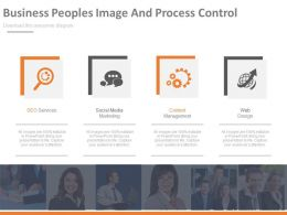 pptx Business Peoples Image And Process Control Flat Powerpoint Design
