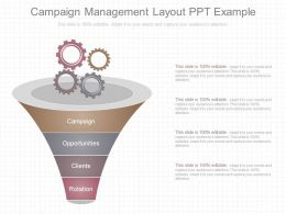Pptx Campaign Management Layout Ppt Example