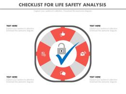 pptx Checklist For Life Safety Analysis Flat Powerpoint Design
