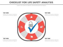 pptx_checklist_for_life_safety_analysis_flat_powerpoint_design_Slide01