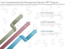 Pptx Cost Improvements And Management Sample Ppt Diagram