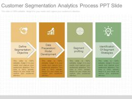 Pptx Customer Segmentation Analytics Process Ppt Slide