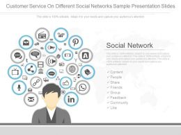 Pptx Customer Service On Different Social Networks Sample Presentation Slides