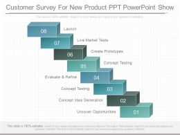 Pptx Customer Survey For New Product Ppt Powerpoint Show