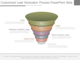 Pptx Customized Lead Generation Process Powerpoint Slide