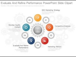 Pptx Evaluate And Refine Performance Powerpoint Slide Clipart