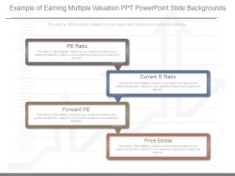 Pptx Example Of Earning Multiple Valuation Ppt Powerpoint Slide Backgrounds