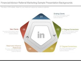Pptx Financial Advisor Referral Marketing Sample Presentation Backgrounds