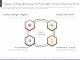 Pptx Financial And Operation Areas For Acquisition Example Powerpoint Show