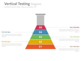 pptx Five Staged Vertical Testing Diagram Flat Powerpoint Design