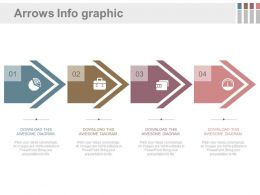 pptx Four Sequential Arrows And Icons For Process Flow Flat Powerpoint Design