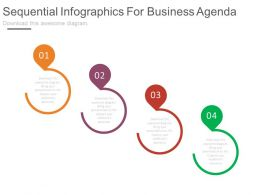pptx Four Sequential Infographics For Business Agenda Flat Powerpoint Design
