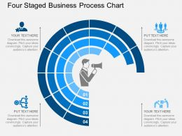 pptx Four Staged Business Process Chart Flat Powerpoint Design
