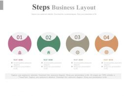 pptx Four Staged Step Business Layout Diagram Flat Powerpoint Design