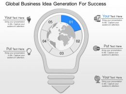 pptx Global Business Idea Generation For Success Powerpoint Template