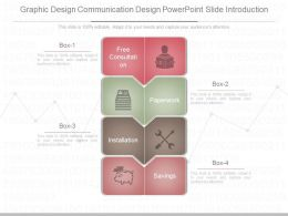Pptx Graphic Design Communication Design Powerpoint Slide Introduction